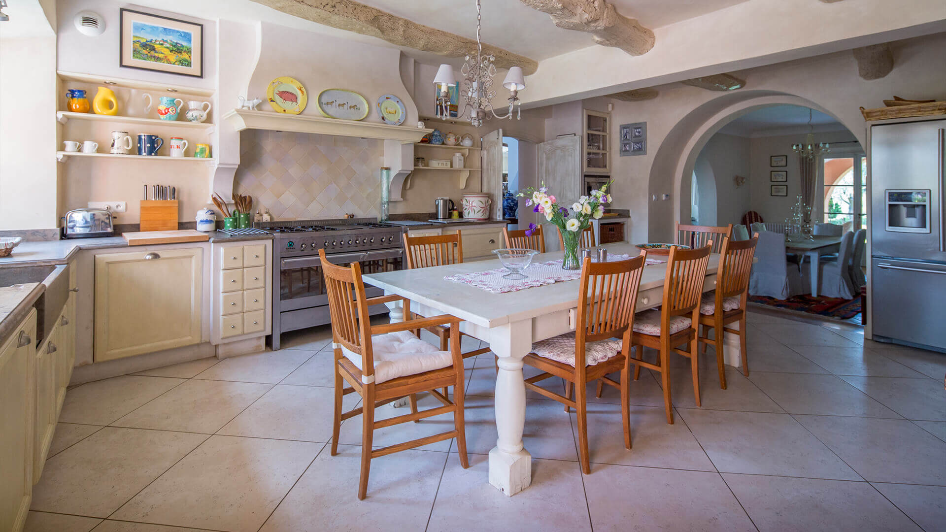 Beautiful villa outside Grasse rustic kitchen