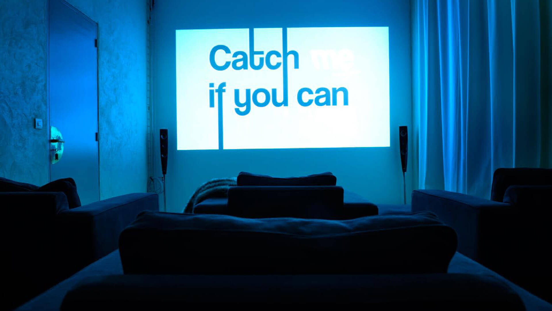 Chateau Perche home theater playing catch me if you can