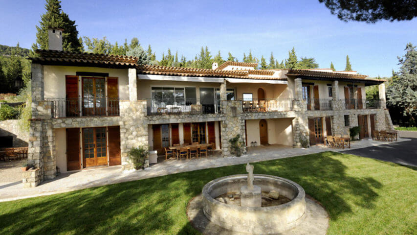 Large villa Cabris with garden and fountain