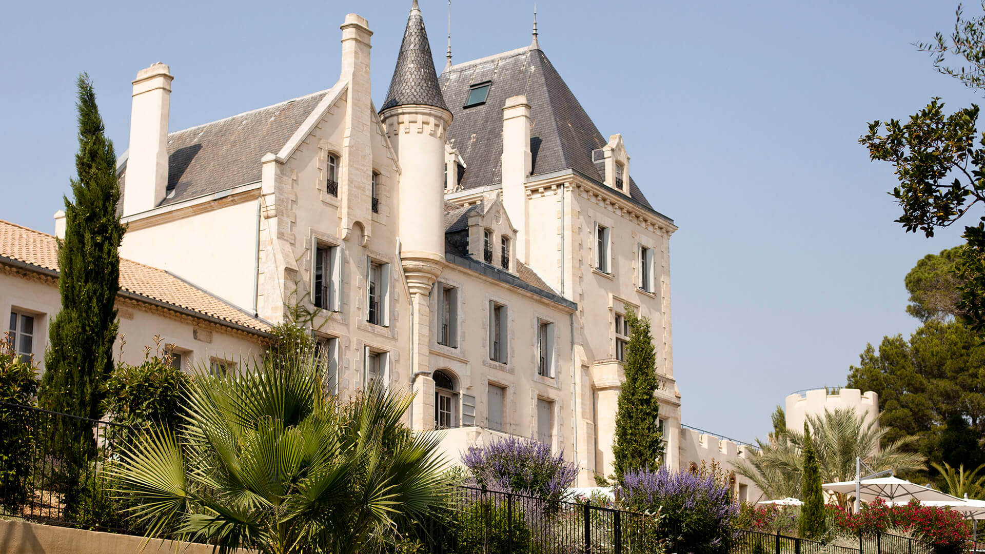 Luxury chateau front