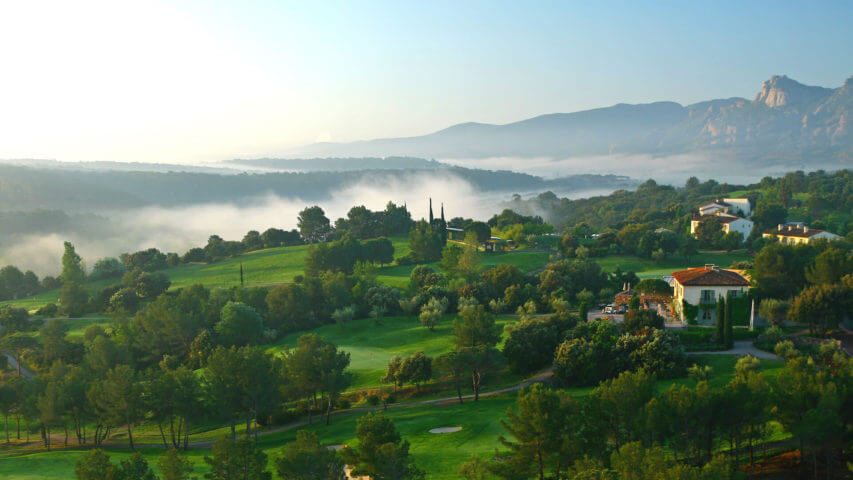 Provence Golf and Spa landscape with mountains