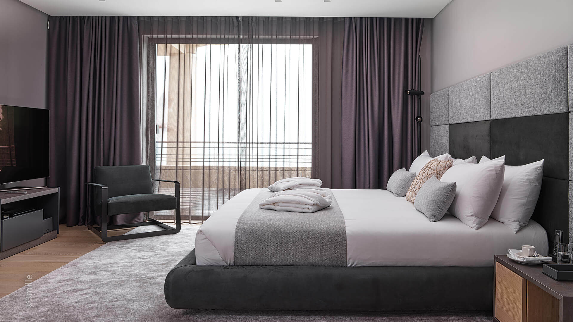Super Cannes Luxury bedroom