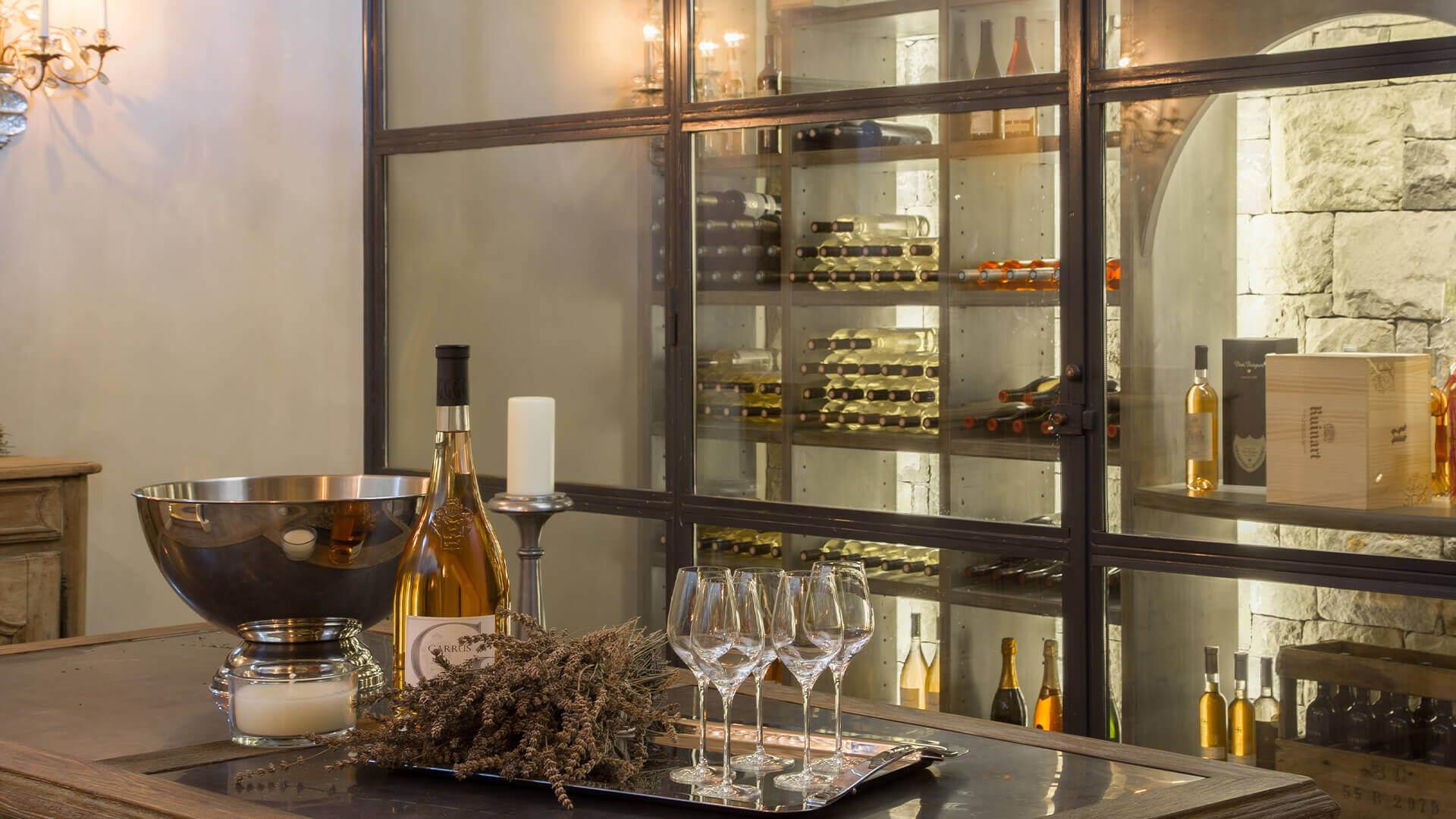 Villa Fayence wine cellar