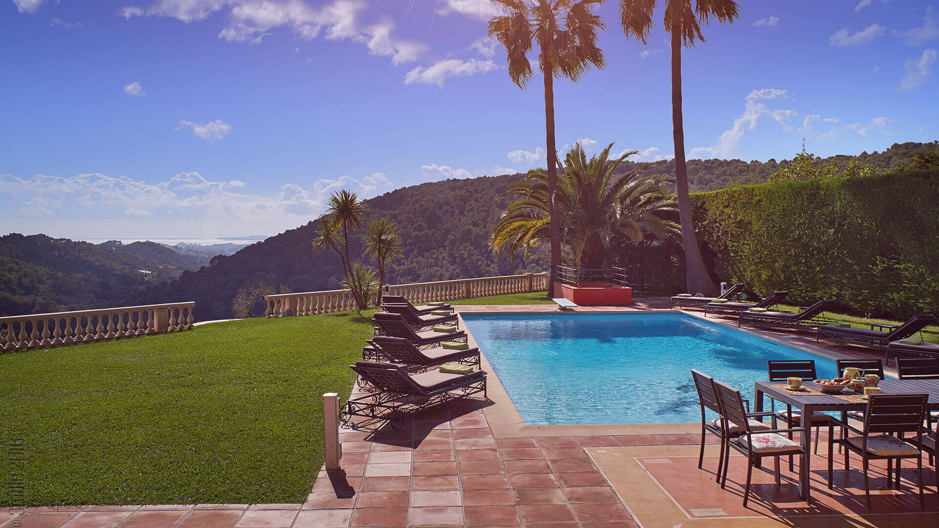 Villa Savoy swimming pool with view