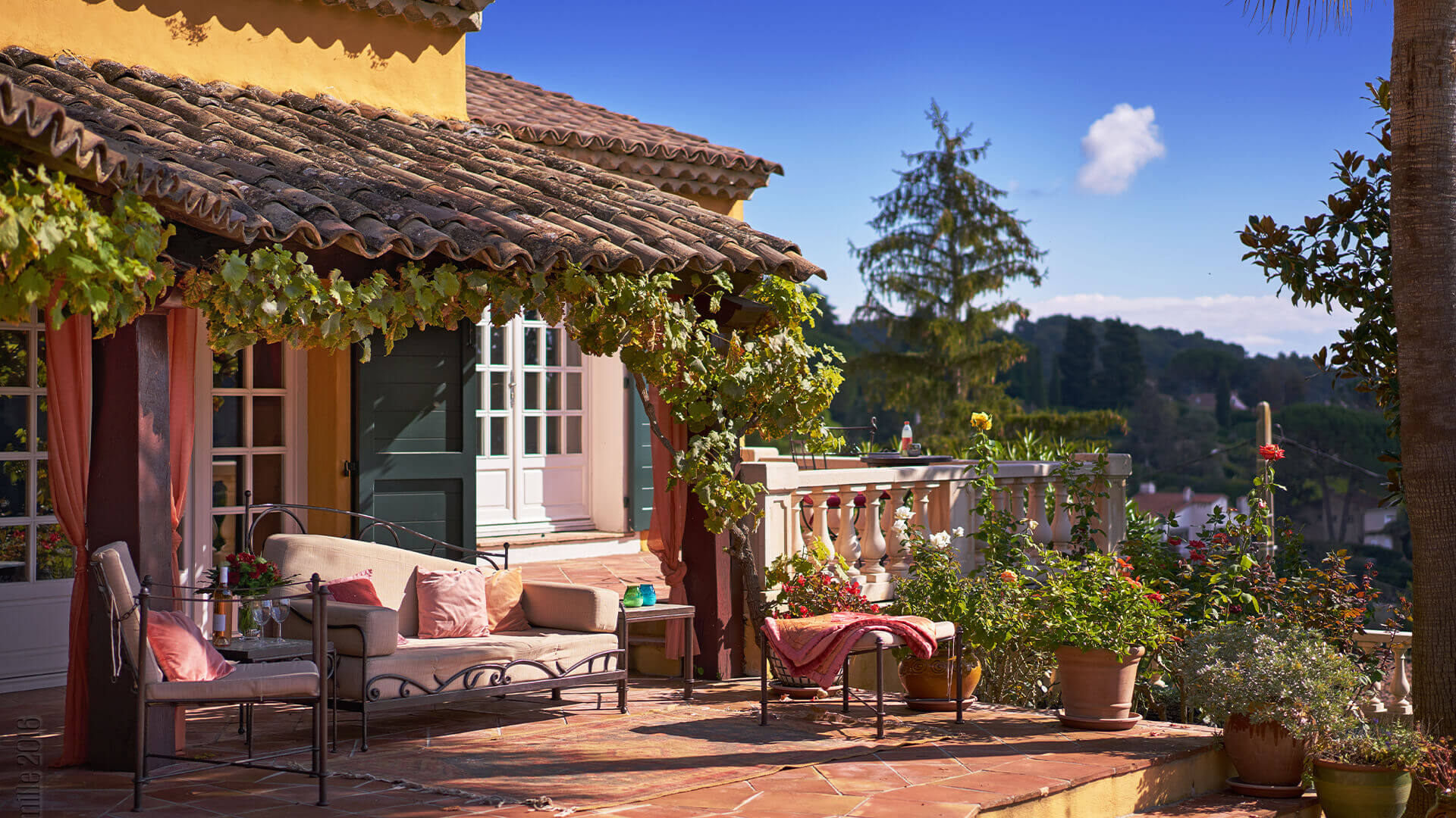 Villa Savoy patio with view